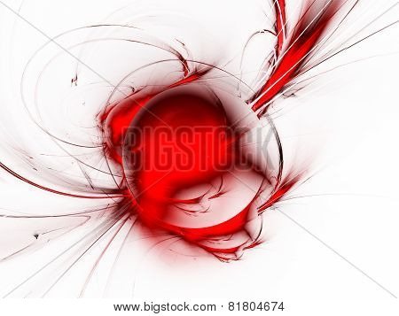 Abstract Art -planet With Spiral Ring.