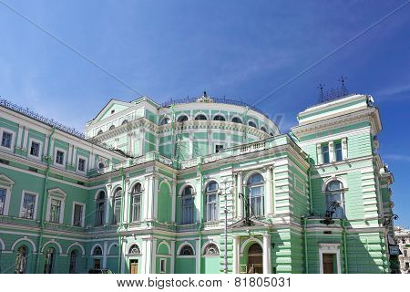 The Mariinsky Opera And Ballet Theater In Saint Petersburg