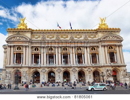 Paris - September 18:palais Or Opera Garnier & The National Academy Of Music In Paris September 18,
