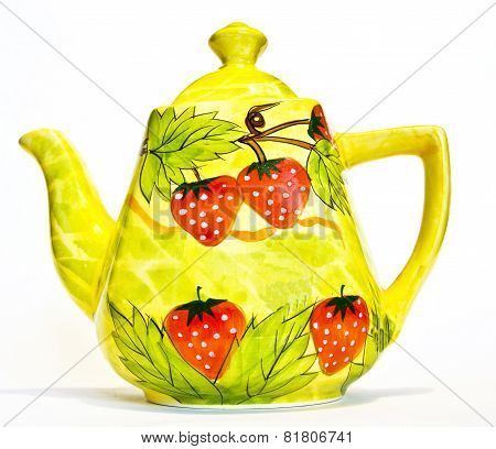 Tea Pot With Strawberry