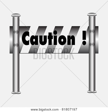 Barricade Warning Sign