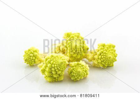 Fresh Of Green Vegetable,romanesco Broccoli, Roman Cauliflower.