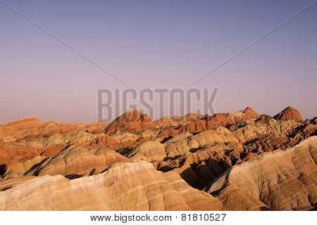 Danxia Landform In Zhangye, China