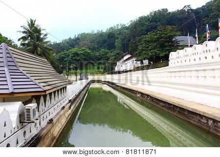 The moat around the Royal Palace. Kandy