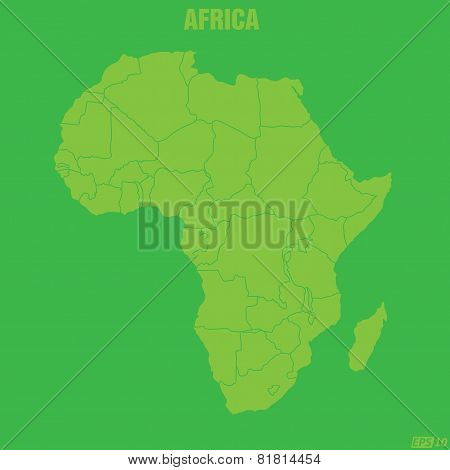 Africa Map - Illustration