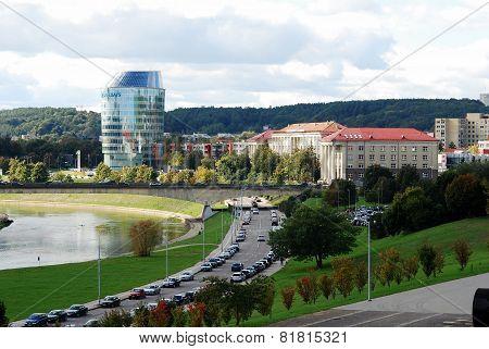 Vilnius City Panorama With River Neris On September 24, 2014
