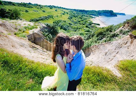 A Pair Of Lovers On A Cliff
