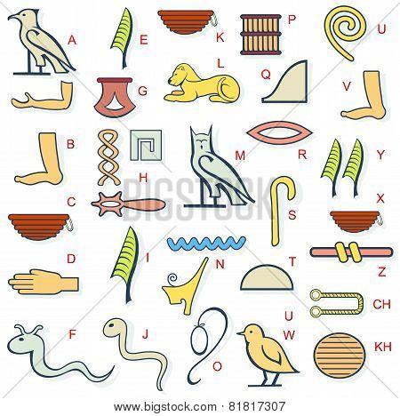 Egypt Hierogliph Alphabet