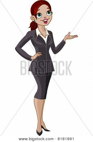 Business Girl Presenting