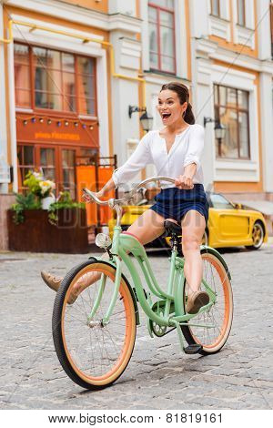 Having Fun With New Bicycle.