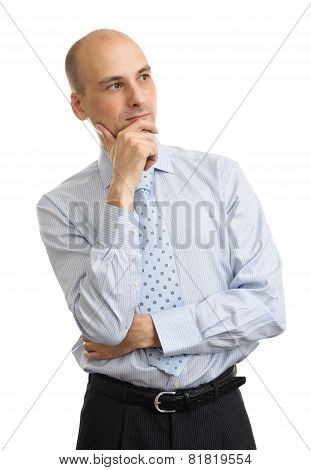 Portrait Of Handsome Businessman Isolated
