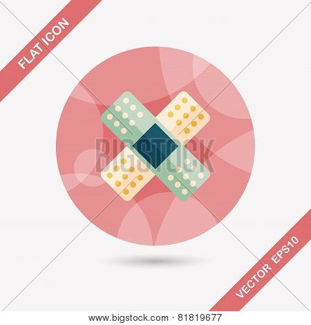 Medical Bandage Flat Icon With Long Shadow,eps10
