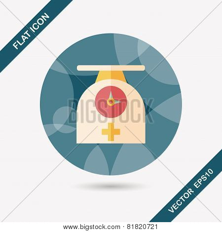 Weight Scales Flat Icon With Long Shadow,eps10