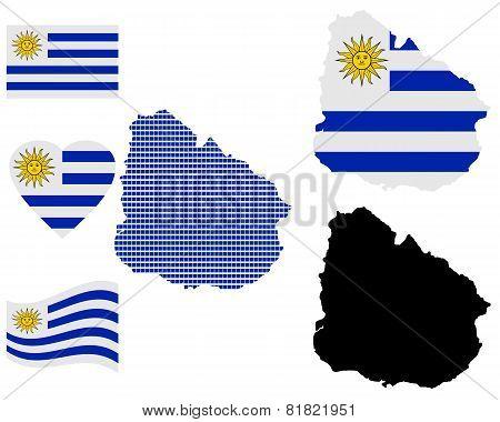 Map Of Eastern Republic Of Uruguay