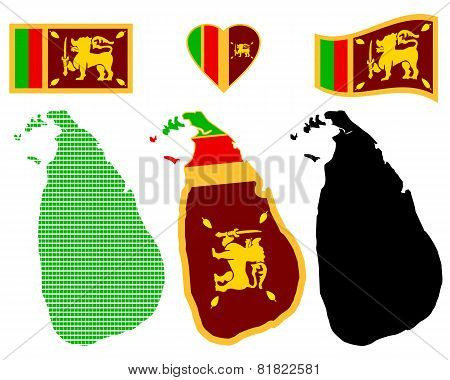 Map Of The Democratic Socialist Republic Of Sri Lanka