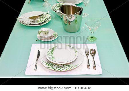 Glass Table Setup