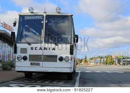 White Scania Lahti 20 Bus From The 1970S