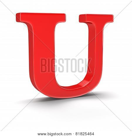 Letter U (clipping path included)