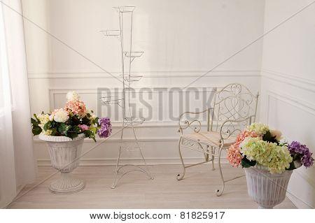 Vintage White Living Room