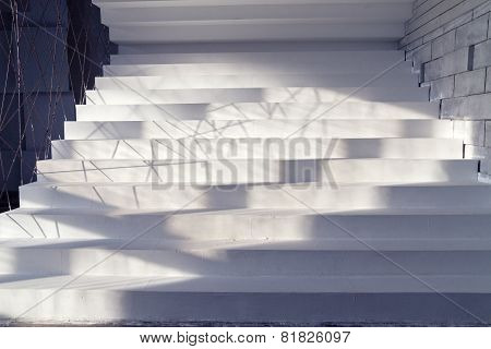 White Stairs In Interior
