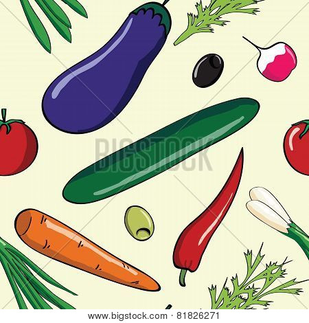 fresh vegetables pattern