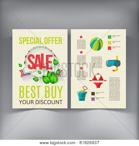 Sale Brochure Flyer design vector template.
