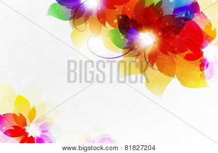 Transparent Flowers Abstract