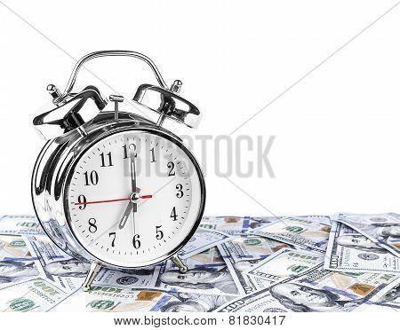 Time - money. Business concept.