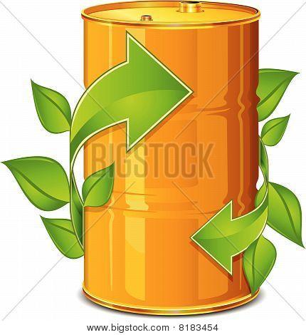 Barrel with arrow