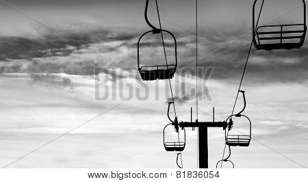 Ski Lift Chair black silhouette