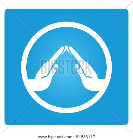 home hand symbol