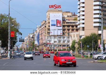 Traffic In Bucharest, Romania