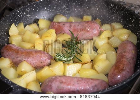 Sausages With Potatoes