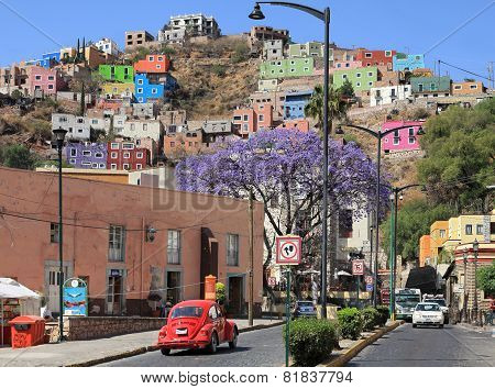 City Of Guanajuato In Mexico With Colorful Buildings