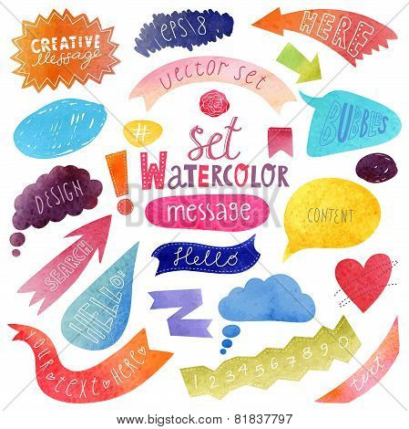 Watercolor vector bubbles