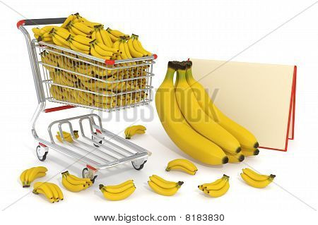 Shopping Cart Full Of Bananas