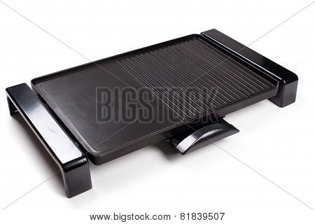 An Image Of A New Electric Barbecue On White Background