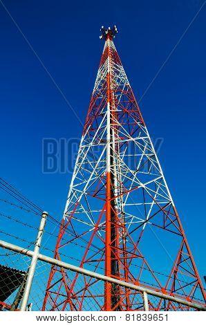 Close Up Mobile Telecommunication Post