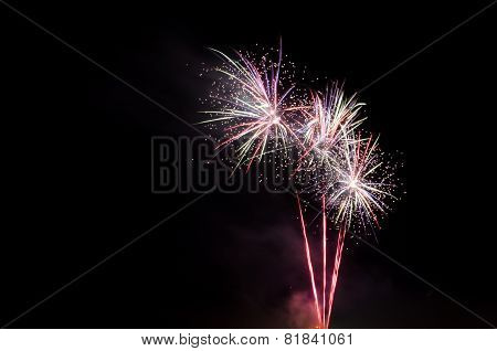 Colorful Fireworks On Sky