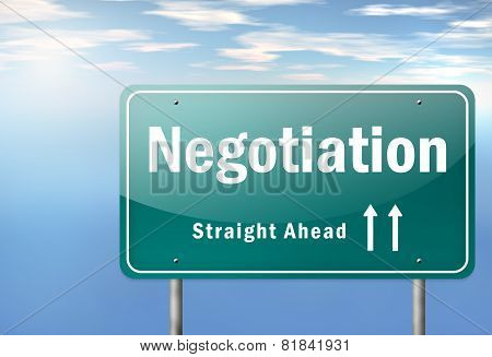 Highway Signpost Negotiation