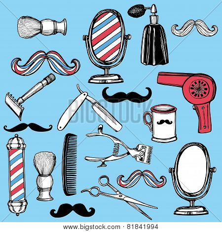 Retro barbershop set