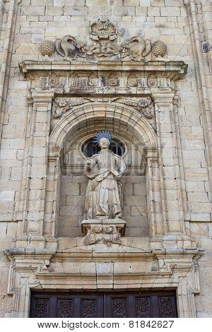 St Nicholas Facade In Villafranca Del Bierzo.