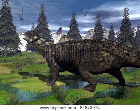Euoplocephalus dinosaur - 3D render