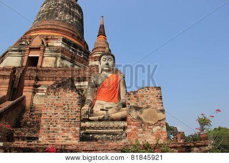 Buddha At Watyaichaimongkol Temple