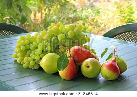 Grapes And Pears On The Table