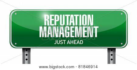 Reputation Management Road Sign Illustration