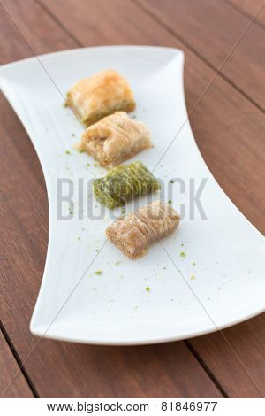 Variety Of Turkish Baklava