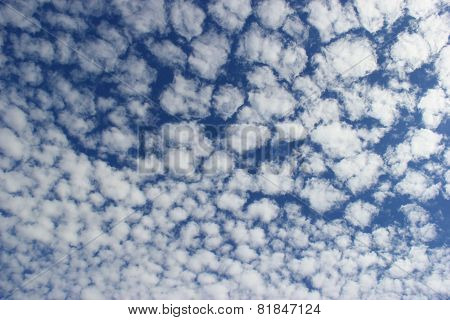 Beautiful Clouds On Bright Blue Sky
