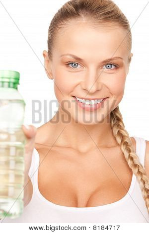 Beautiful Woman With Bottle Of Water