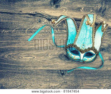 Carnival Mask Harlequin. Symbol Of Venetian Mask Festival